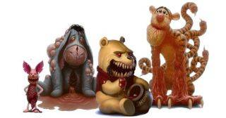 Художник превратил наших любимых мультяшек в кровожадных монстров!