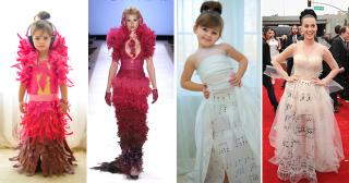 «Бумажные» фантазии, или как мама с дочкой создают платья ее мечты